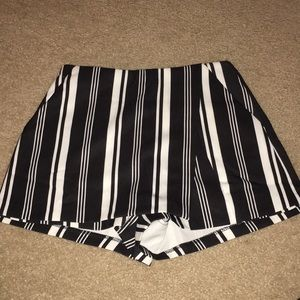 Charlotte Russe Striped Black and White Shorts